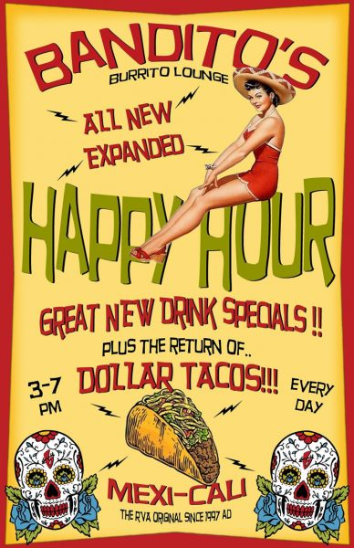 Bandito's Burrito Lounge Happy Hour