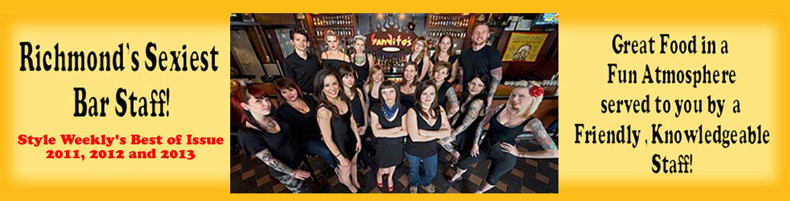 Banditos Burrito Lounge Sexiest Bar Staff - 2011, 2012 & 2013