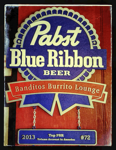 pabst banditos burrito lounge JULY 2014