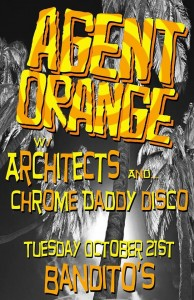 Banditos Richmond Va Agent Orange with Architects and Chrome Daddy Disco Tuesday Oct 21 2014